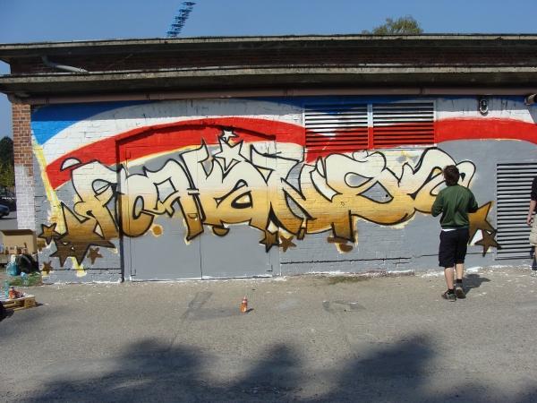 Graffiti-Projekt Platzwartanlage Foto 08