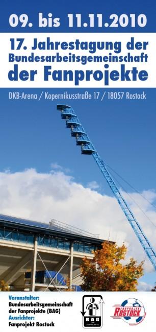 Jahrestagung der Bundesarbeitsgemeinschaft der Fanprojekte 2010 Flyer