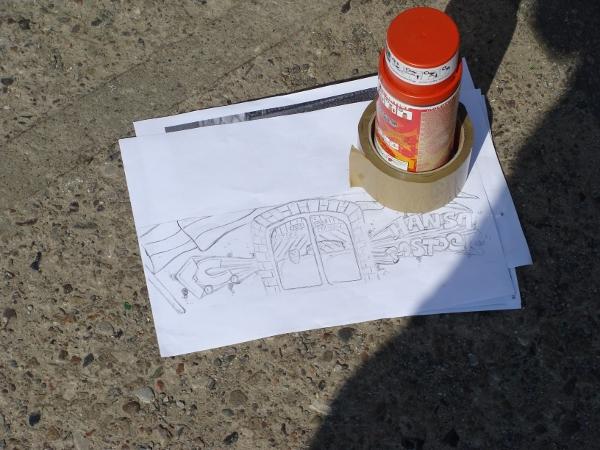 Graffiti-Projekt Platzwartanlage Foto 01