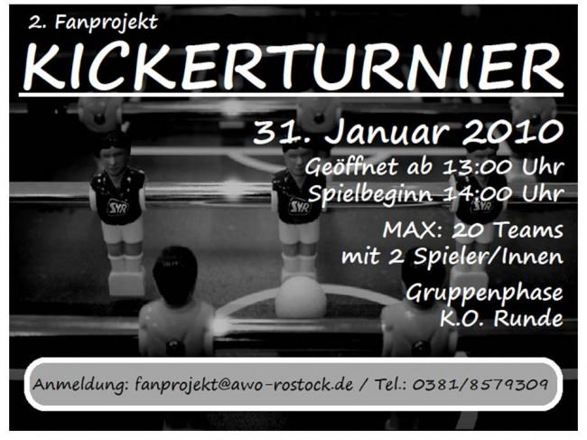 2. Fanprojekt Kickerturnier, Januar 2010